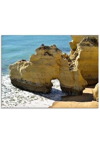 Artland Glasbild »Typische Felsalgarve«, Küste, (1 St.) kaufen