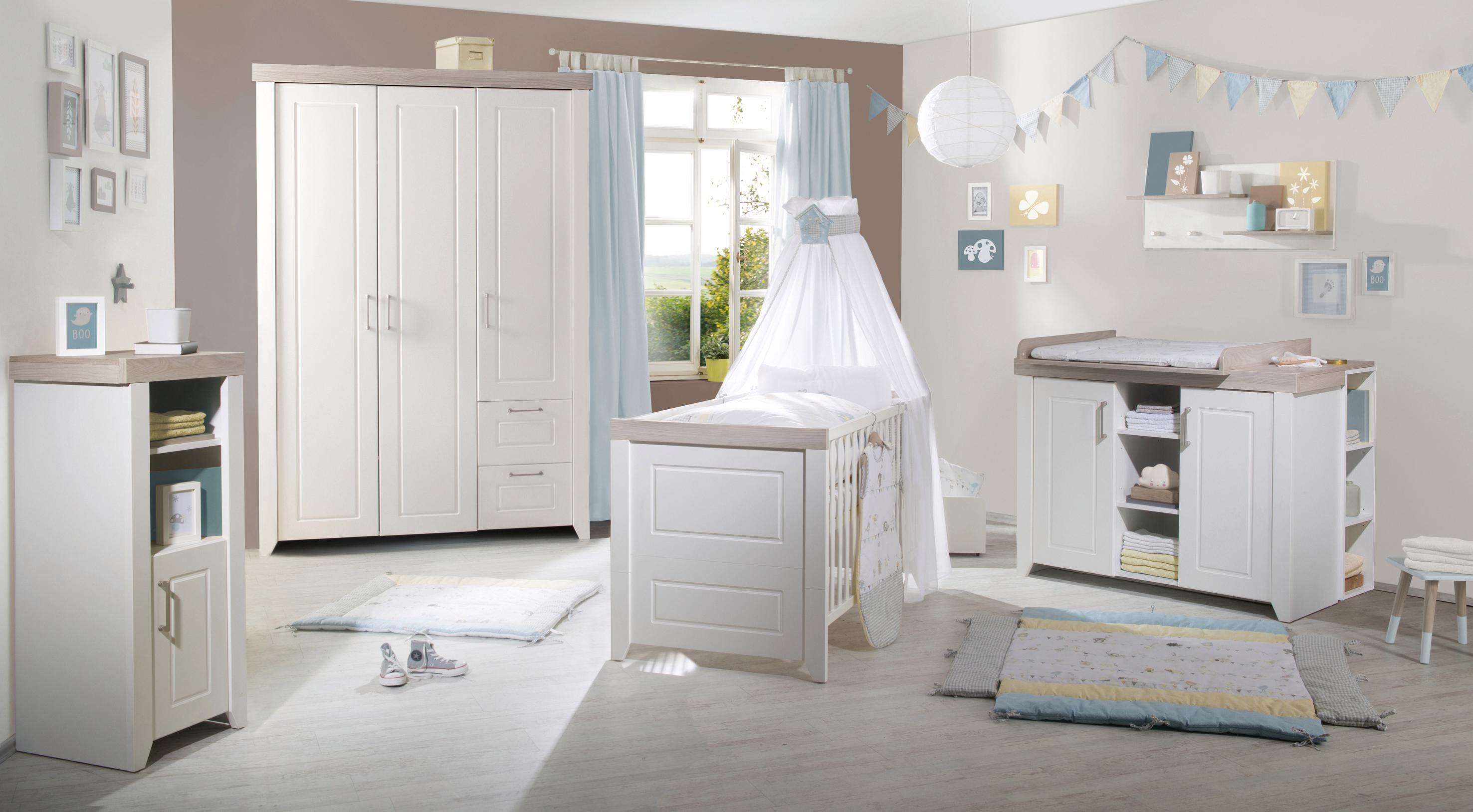 Roba Babyzimmer Set (3-tlg) Kinderzimmer »Felicia« | Kinderzimmer > Babymöbel > Komplett-Babyzimmer | Weiß | Metall - Abs - Spanplatte - Mdf | ROBA