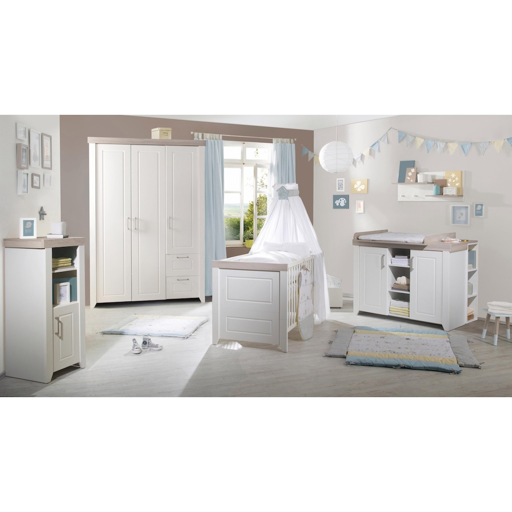 roba® Babyzimmer-Komplettset »Felicia«, (Set, 3 St.), mit Kinderbett, Schrank und Wickelkommode