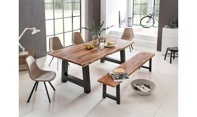 Premium collection by Home affaire Esstisch »Manhattan«, mit Metallgestell in A-Form kaufen