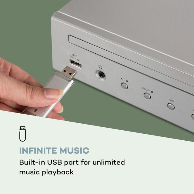 Auna HiFi-Receiver Internet/DAB+/ FM Radio CD-Player WiFi silber »iTuner CD«