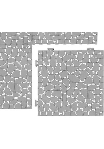 UPP Terrassenplatte 30x30 cm, Kunststoff in Terrakottaoptik, 6 Platten (0,54m²) kaufen