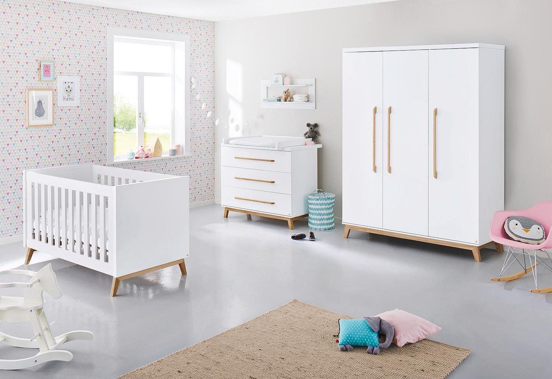 Pinolino® Babyzimmer Komplettset »Riva«, Set, 21 St., breit groß; mit  Kinderbett, Schrank und Wickelkommode