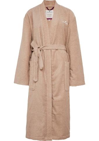 TOM TAILOR Unisex-Bademantel »Kimono«, (1 St.), mit Logostickerei kaufen