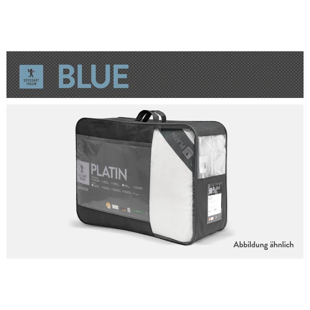 SPESSARTTRAUM Daunenbettdecke »Blue«, warm, Füllung 60% Daunen, 40% Federn, Bezug 100% Baumwolle, (1 St.), hergestellt in Deutschland, allergikerfreundlich