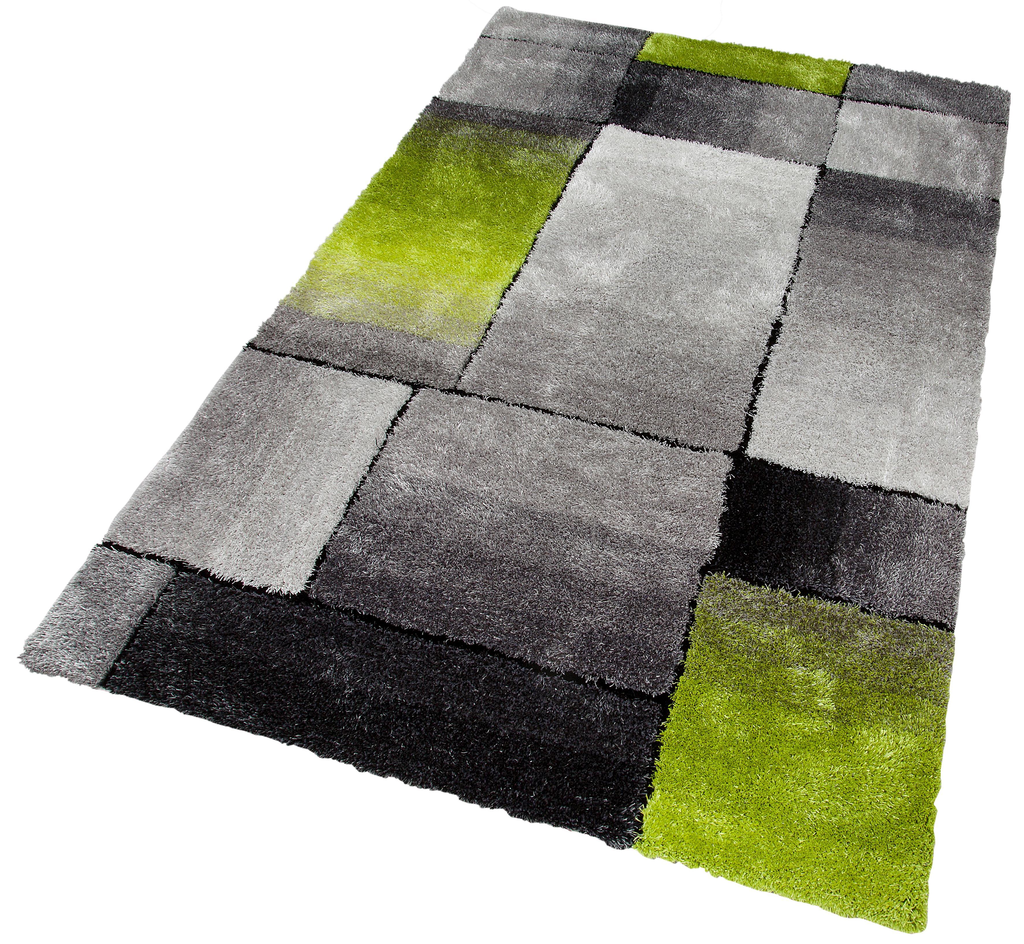 Hochflor-Teppich, »Fajola«, my home Selection, rechteckig, Höhe 30 mm, handgetuftet