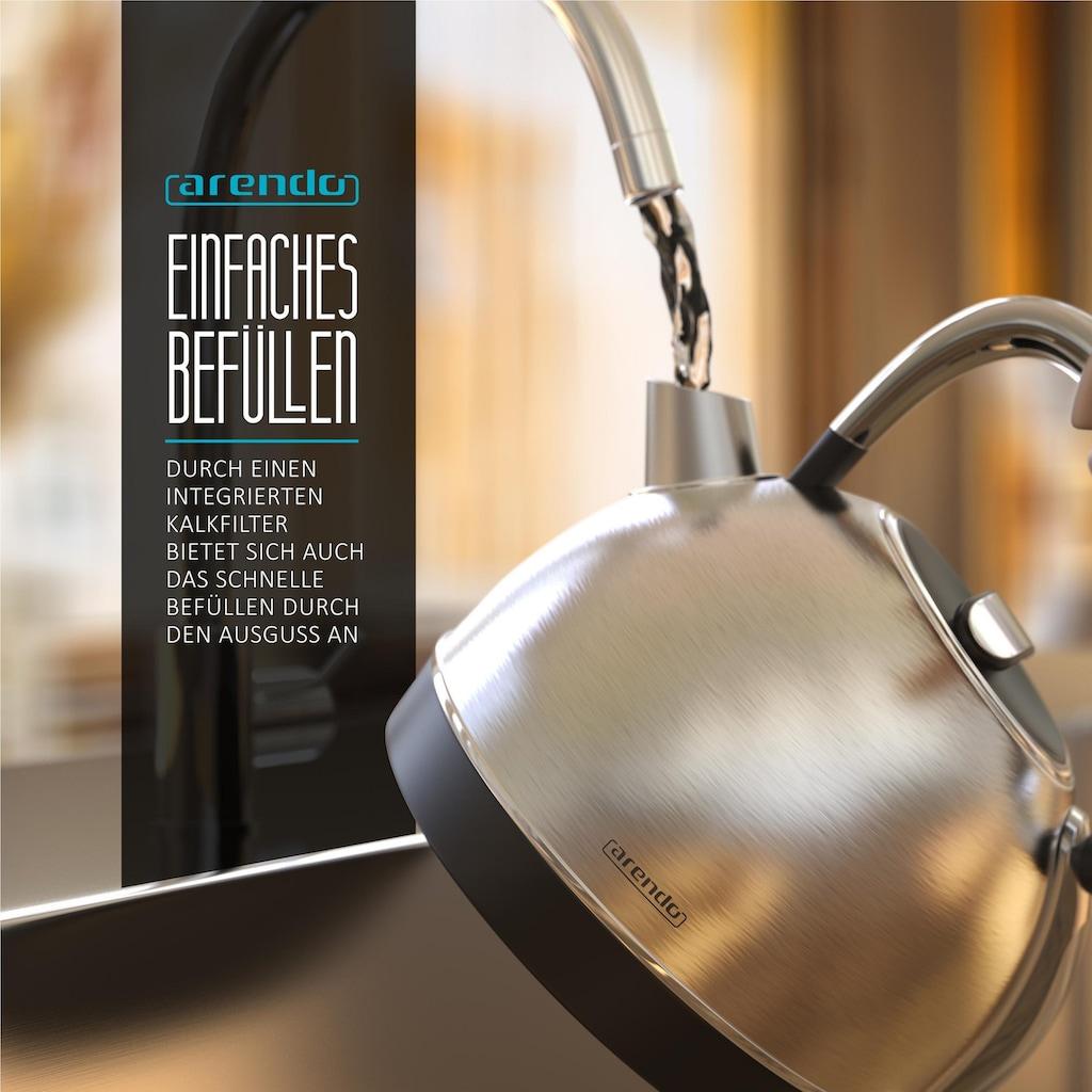 Arendo Frühstücks Set 3-teilig in Edelstahl Design