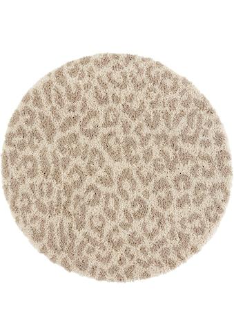 Hochflor - Teppich, »Gemma«, my home, rund, Höhe 35 mm, maschinell gewebt kaufen