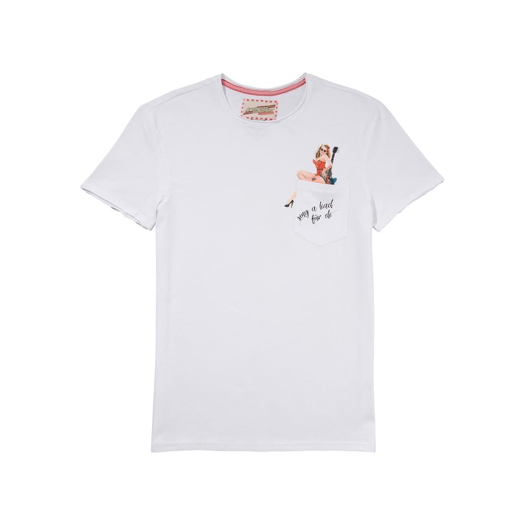 Andreas Gabalier Kollektion Trachtenshirt, mit coolem Pin-Up Motiv