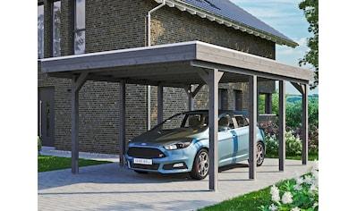 Skanholz Einzelcarport »Friesland«, Fichtenholz, 355 cm, dunkelgrau kaufen