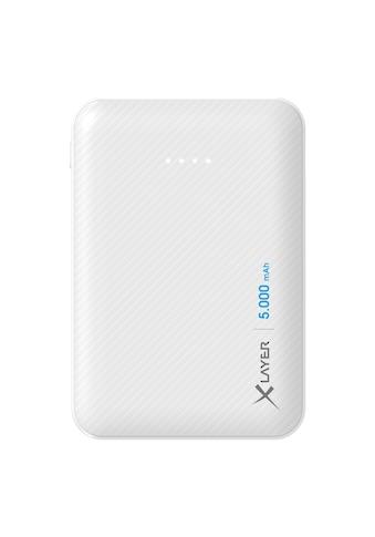 XLAYER Zusatzakku »Powerbank Micro Carbon White 5000mAh Smartphones/T« kaufen