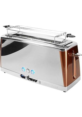 RUSSELL HOBBS Toaster »Luna Copper Accents 24310-56«, 1 langer Schlitz, für 2 Scheiben, 1420 W kaufen