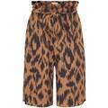 Mexx Shorts, mit Allover-Animal-Print und Bindeband vorne