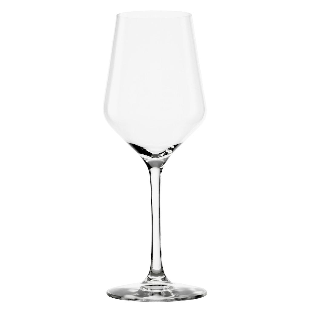 Stölzle Weißweinglas »REVOLUTION«, (Set, 6 tlg.), Maschinen-Zieh-Verfahren, 6-teilig