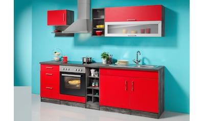 HELD MÖBEL Küchenzeile »Sevilla«, mit Elektrogeräten, Breite 240 cm kaufen
