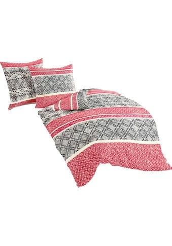 BIERBAUM Bettwäsche »Red Pattern«, mit Bordüren kaufen