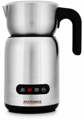 Gastroback Milchaufschäumer »Design Milk & Chocolate Advanced 42359«, 650 W, automatisch, Cappuccino Milchschaum-Programm für festen & sahnigen Milchschaum kaufen