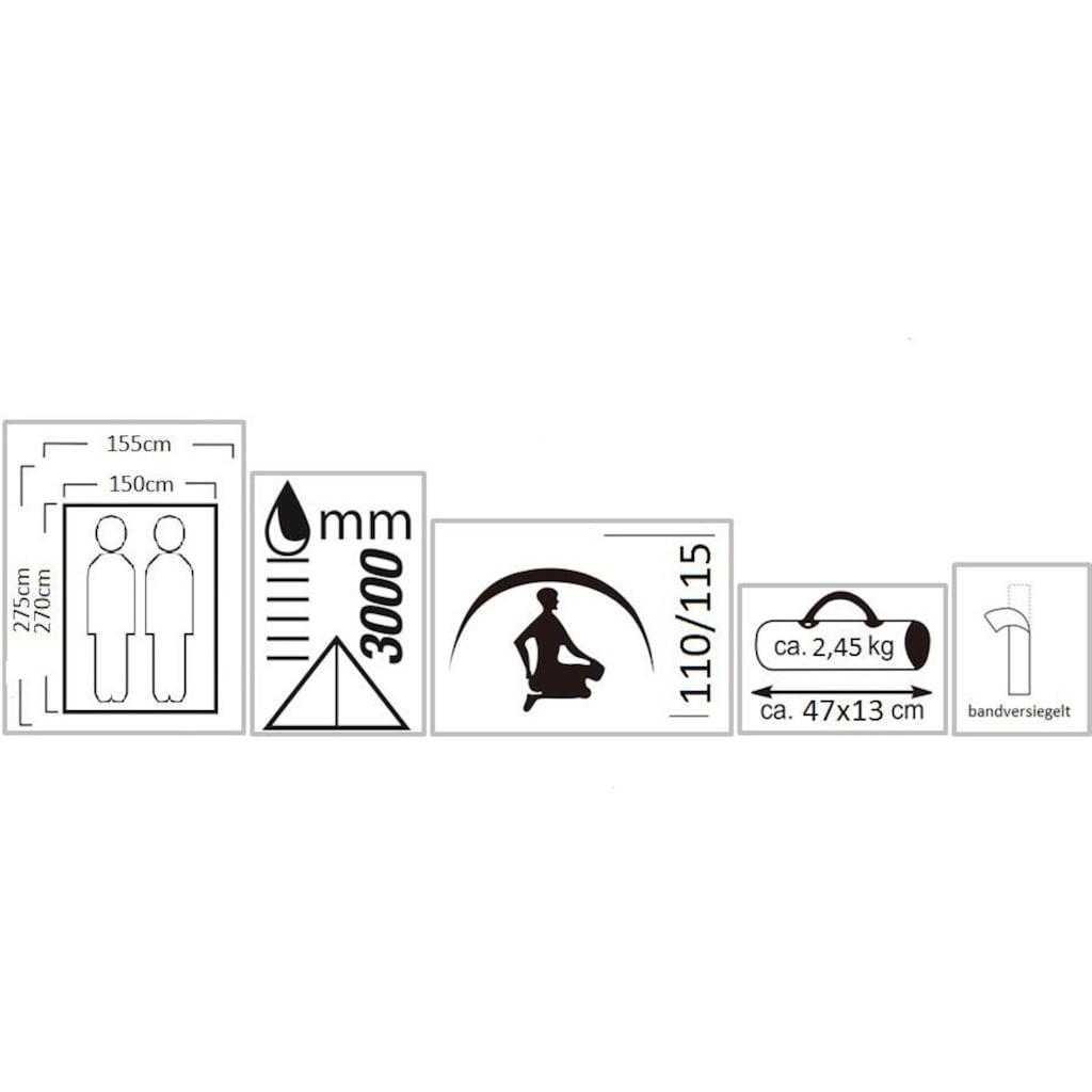 EXPLORER Tunnelzelt »Dakota Trekkingzelt«, 2 Personen