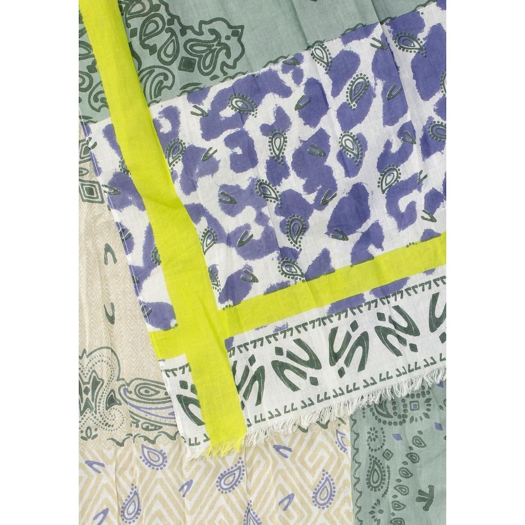 camel active Modeschal, Mit Paisley- und Animal-Print, Allover gemustert