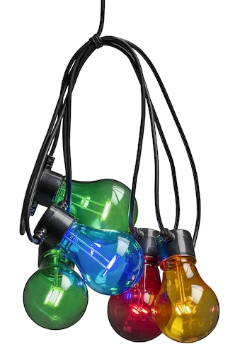 KONSTSMIDE LED-Lichterkette, 20 St.-flammig, LED Biergartenkette, 20 bunte Birnen /... kaufen
