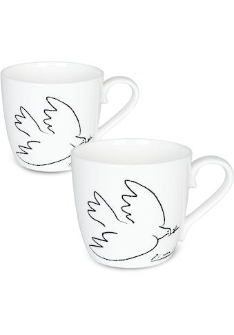 Könitz Becher »Berühmtes Picasso Design - La Colombe de la Paix«, (Set, 2 tlg.), 2-teilig kaufen