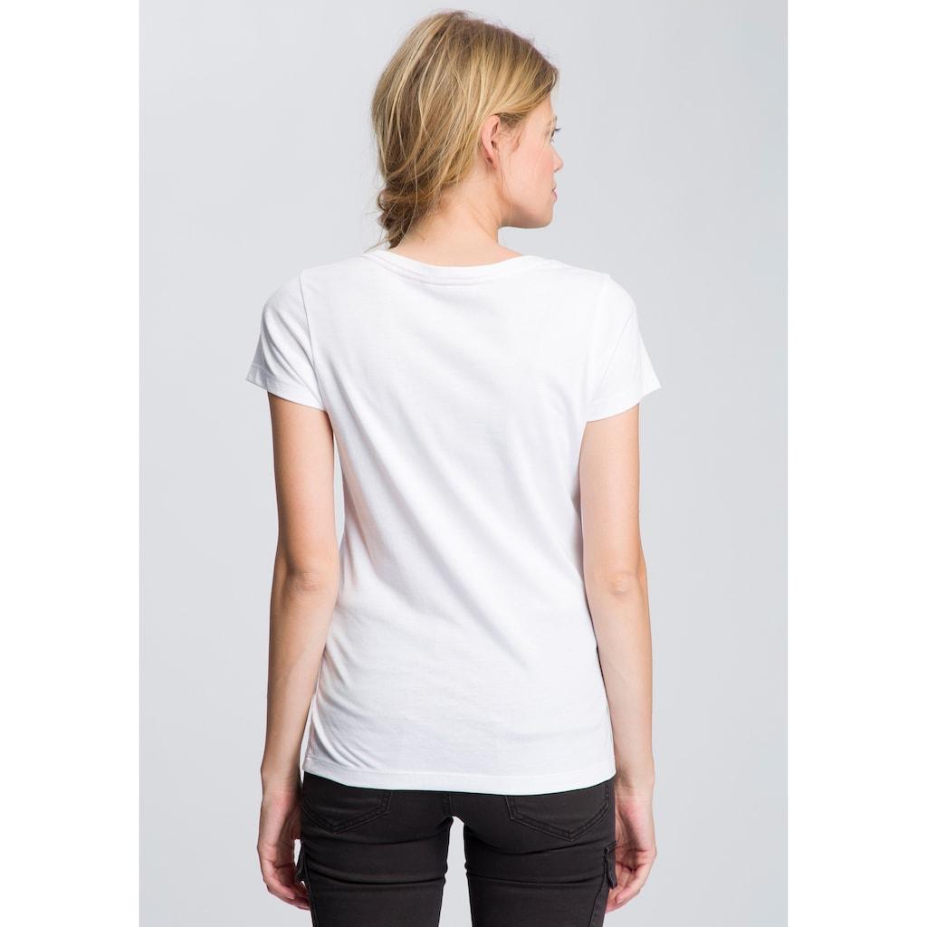 TOM TAILOR Polo Team T-Shirt, mit Kontrast-Steppnaht