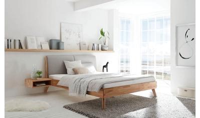 HASENA Massivholzbett »Simone«, Massivholzbett mit integriertem Polsterkopfteil, wahlweise in zwei verschiedenen Liegehöhen erhältlich kaufen