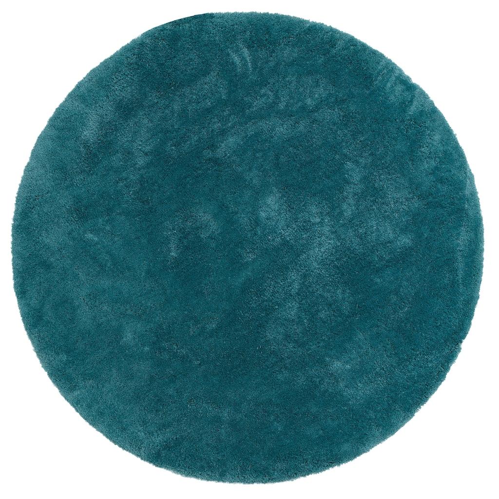 my home Hochflor-Teppich »Magong«, rund, 25 mm Höhe, Besonders weich durch Microfaser