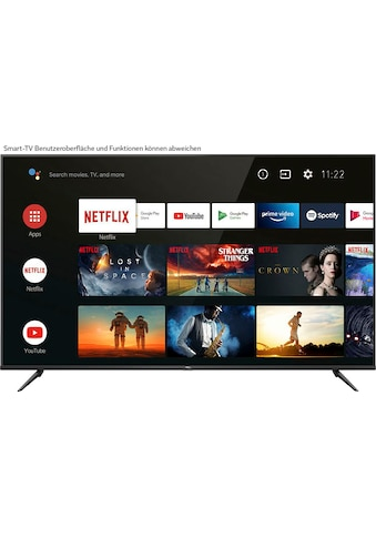 "TCL LED-Fernseher »75P616«, 189 cm/75 "", 4K Ultra HD, Smart-TV, Android 9.0 Betriebssystem kaufen"