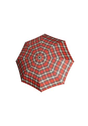 Knirps® Taschenregenschirm »T2 Duomatic kariert rot« kaufen
