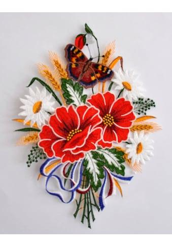 Stickereien Plauen Fensterbild »Herbstblumenstrauß« kaufen