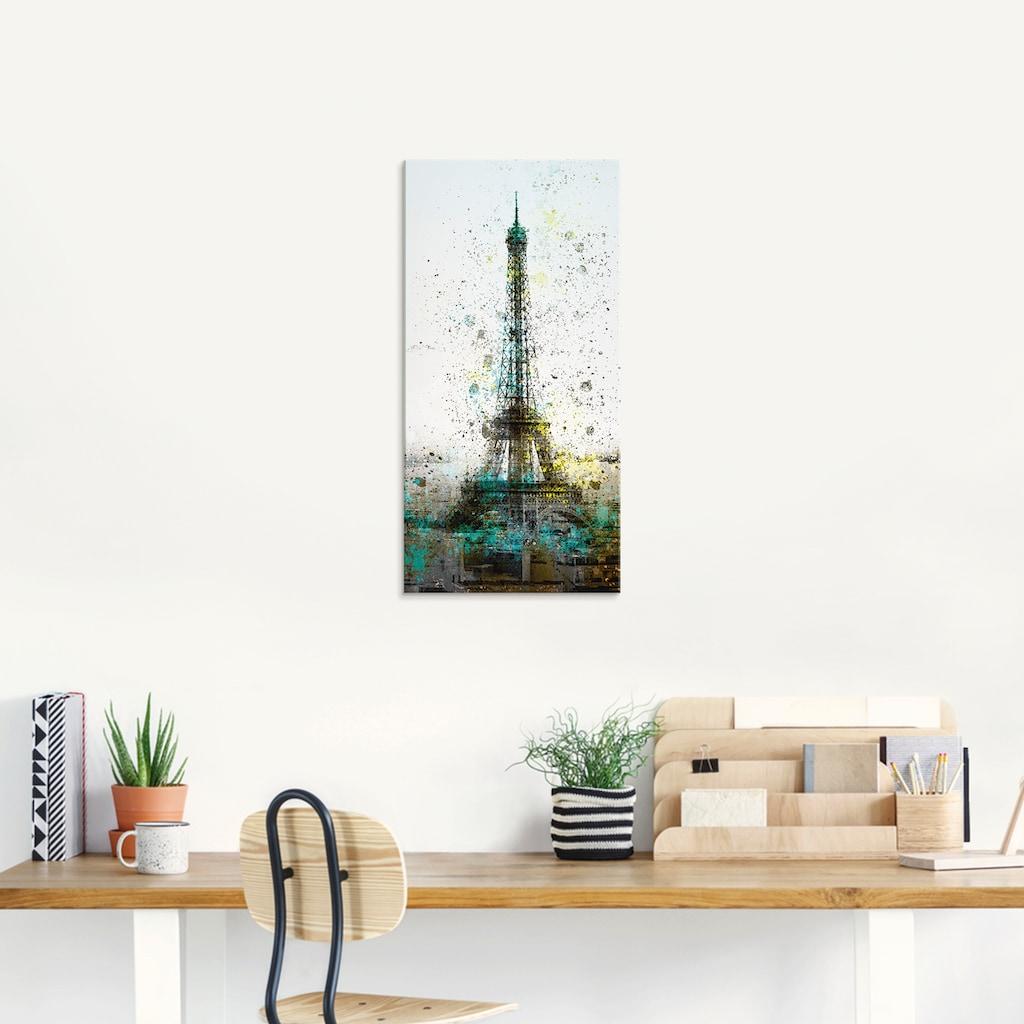 Artland Glasbild »Paris Eiffelturm I«, Gebäude, (1 St.)