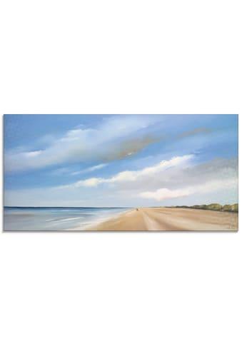 Artland Glasbild »Am Strand entlang III« kaufen