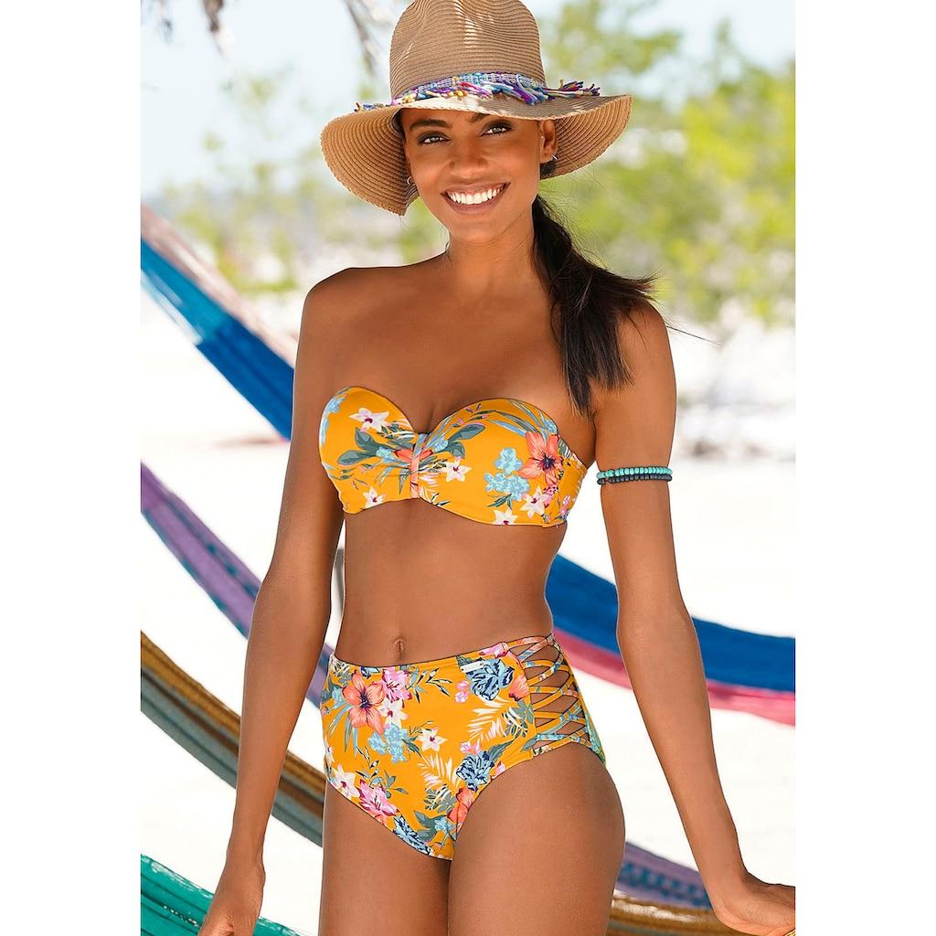 Bench. Bügel-Bandeau-Bikini-Top »Maui«, in floralem Design