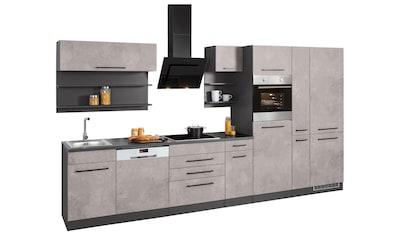 HELD MÖBEL Küchenzeile »Tulsa«, ohne E-Geräte, Breite 360 cm, schwarze Metallgriffe,... kaufen