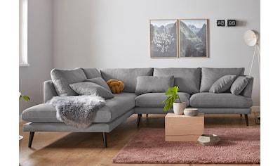 andas Ecksofa »Gondola«, skandinavisches Design und edle Ausstrahlung, mit Holzbeinen kaufen