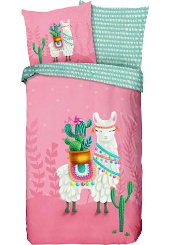 good morning Kinderbettwäsche »Lalama«, mit niedlichem Lama kaufen