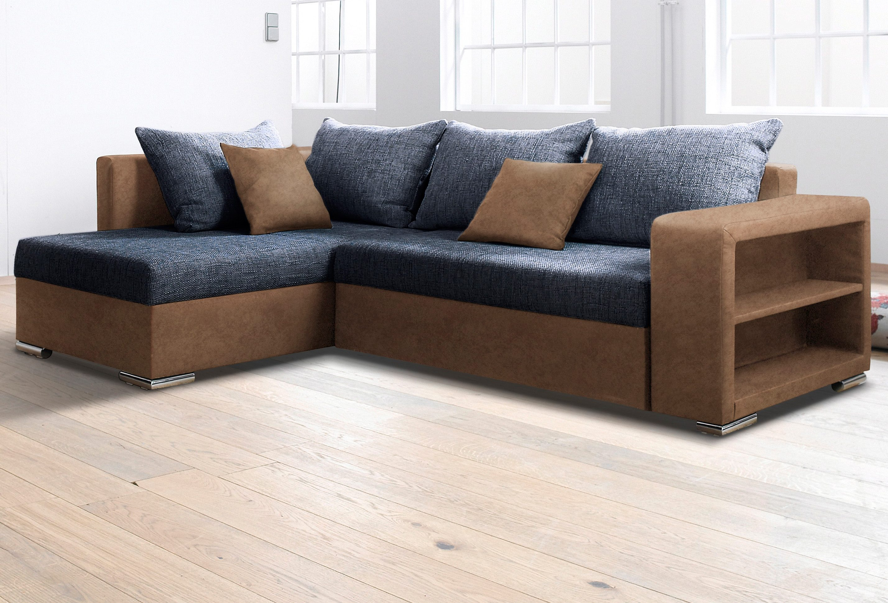 COLLECTION AB Ecksofa | Wohnzimmer > Sofas & Couches > Ecksofas & Eckcouches | Braun | Holzwerkstoff | COLLECTION AB