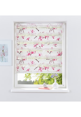my home Doppelrollo »Orchidee«, Lichtschutz, ohne Bohren, freihängend, im Fixmaß kaufen