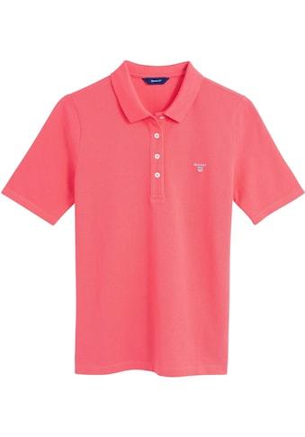 Gant Poloshirt, mit halbem Ärmel, in klasischer Piqué-Qualität kaufen