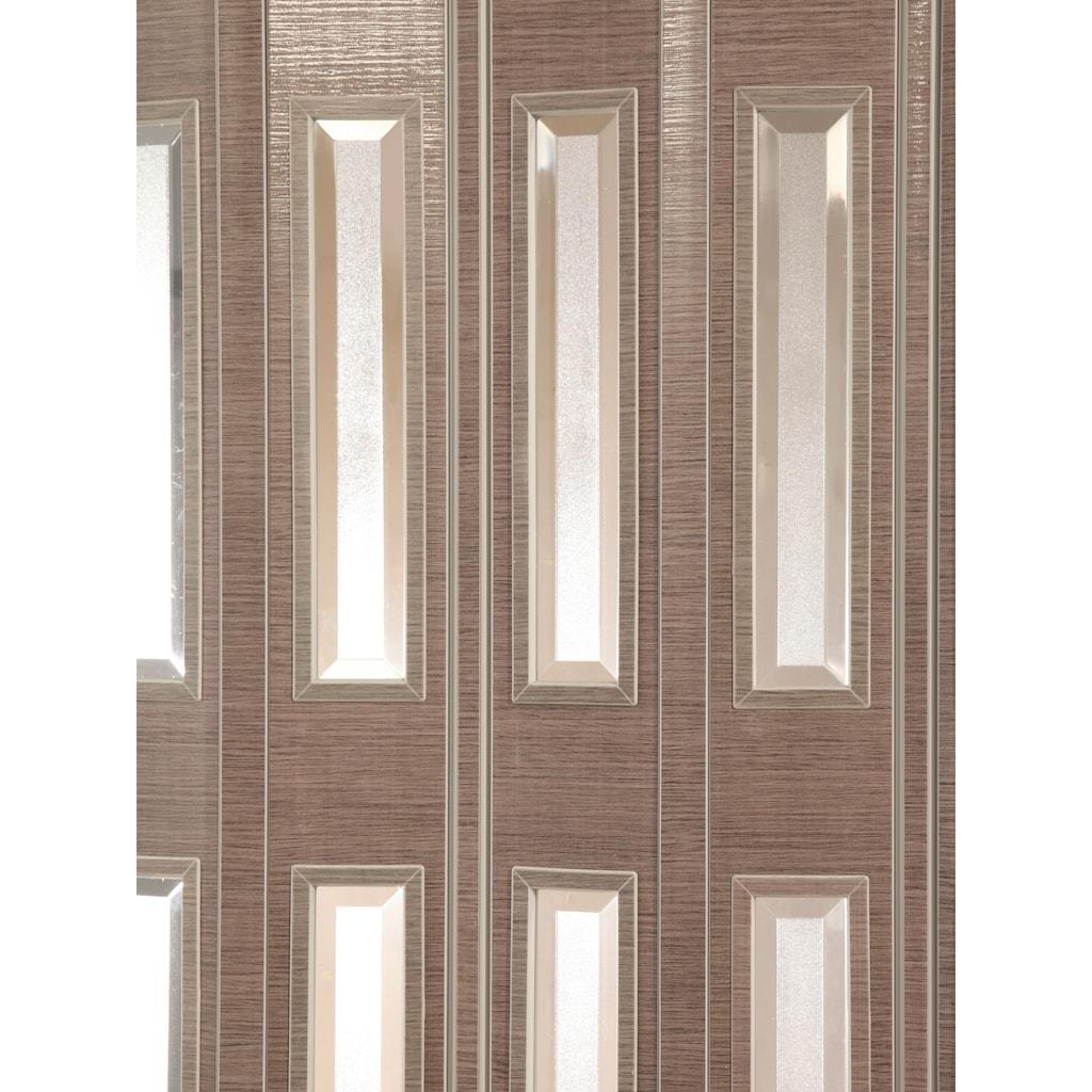 Falttür »Elvira«, Höhe nach Maß, Eichefarben taupe mit Cristall Fenstern