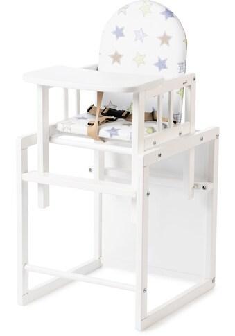 Geuther Kombihochstuhl »Nico, weiß Sterne«, zur Kindersitzgarnitur umbaubar kaufen