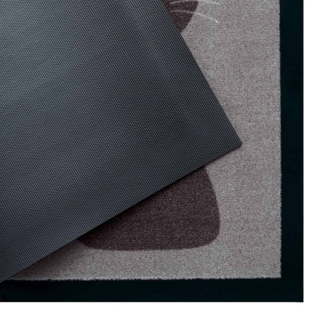 my home Fußmatte »Katze«, rechteckig, 5 mm Höhe, Fussabstreifer, Fussabtreter, Schmutzfangläufer, Schmutzfangmatte, Schmutzfangteppich, Schmutzmatte, Türmatte, Türvorleger, mit Spruch