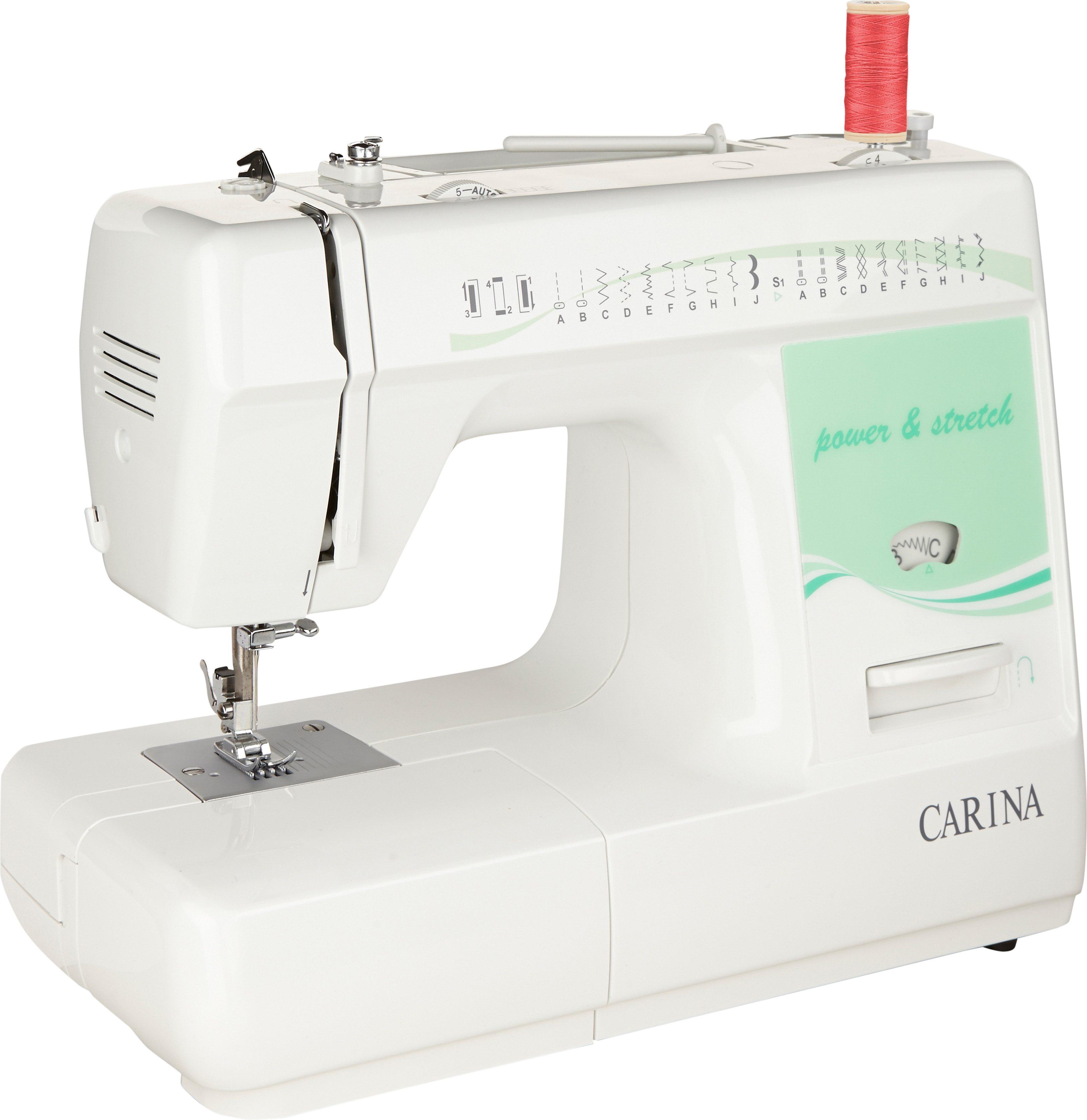 Carina Nähmaschine Power & Stretch, 24 Nähprogramme | Flur & Diele > Haushaltsgeräte > Strick und Nähmaschinen | Weiß | CARINA