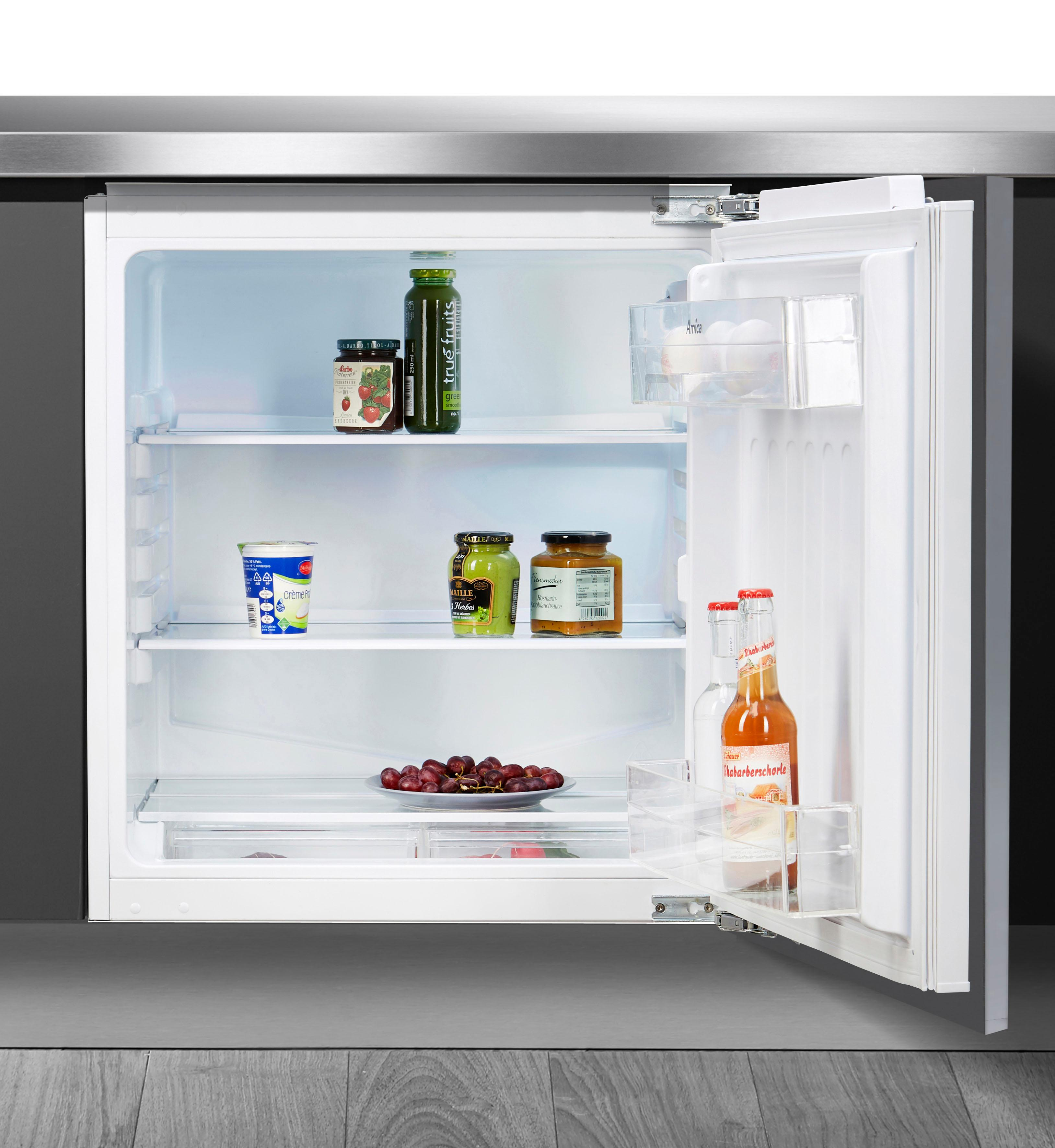 Amica Einbaukühlschrank, 81, 8 cm hoch, 60 cm breit | Küche und Esszimmer > Küchenelektrogeräte > Kühlschränke | Weiß | AMICA