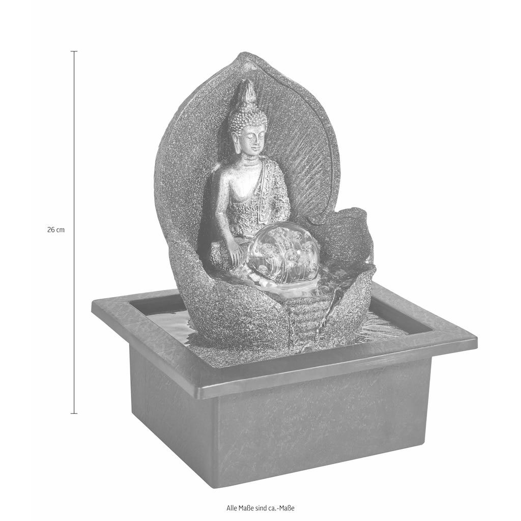Home affaire Zimmerbrunnen »Silver Buddha«