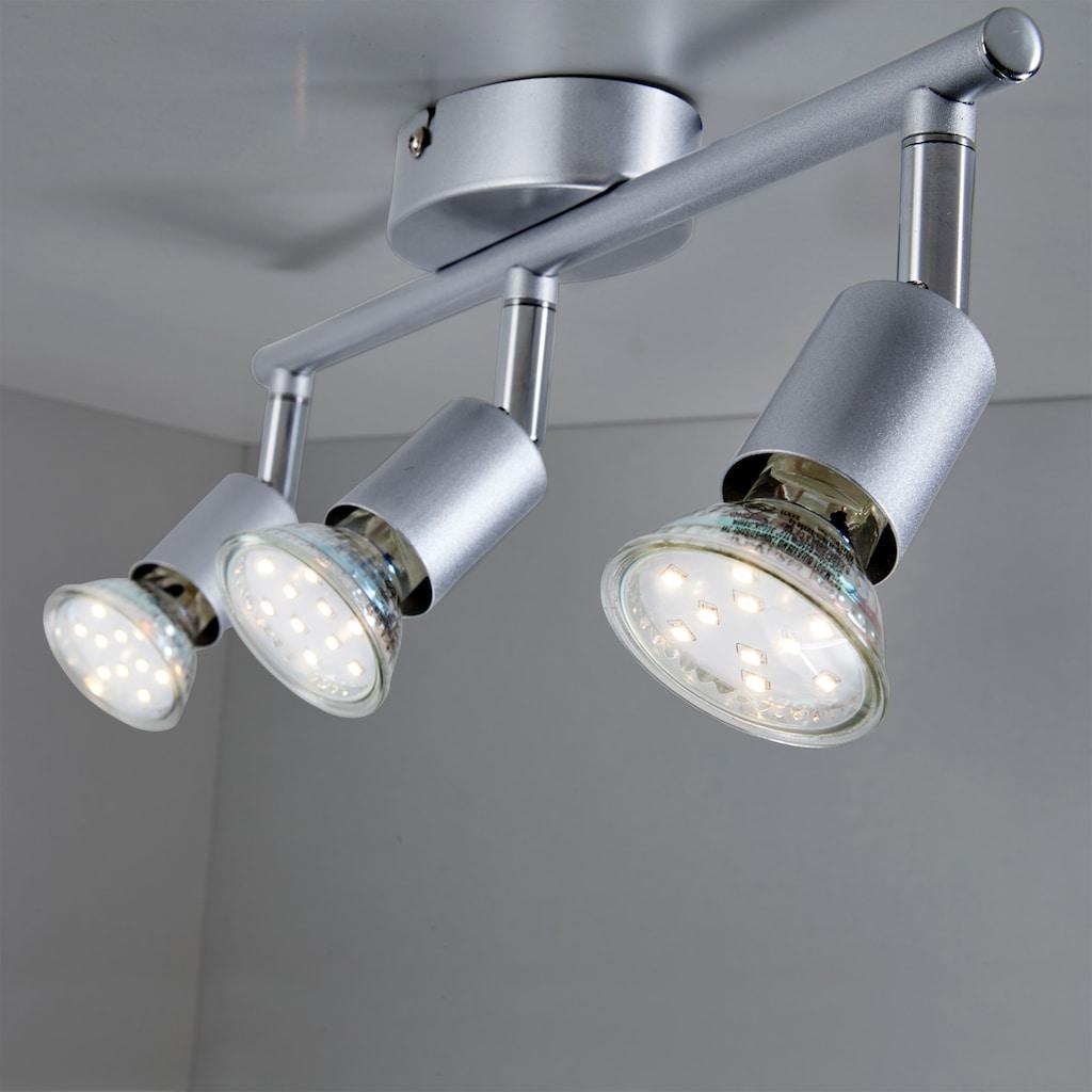 B.K.Licht LED Deckenspots, GU10, Warmweiß, LED Deckenleuchte inkl. 3 x 3W GU10 250 Lumen 3.000K IP20 Deckenstrahler