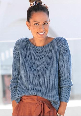 LASCANA Rundhalspullover, aus weichem Grobstrick kaufen