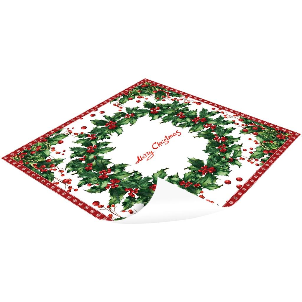 MySpotti Vinylteppich »Buddy Ruwen«, quadratisch, 0,03 mm Höhe, eckig, wasserfest und statisch haftend
