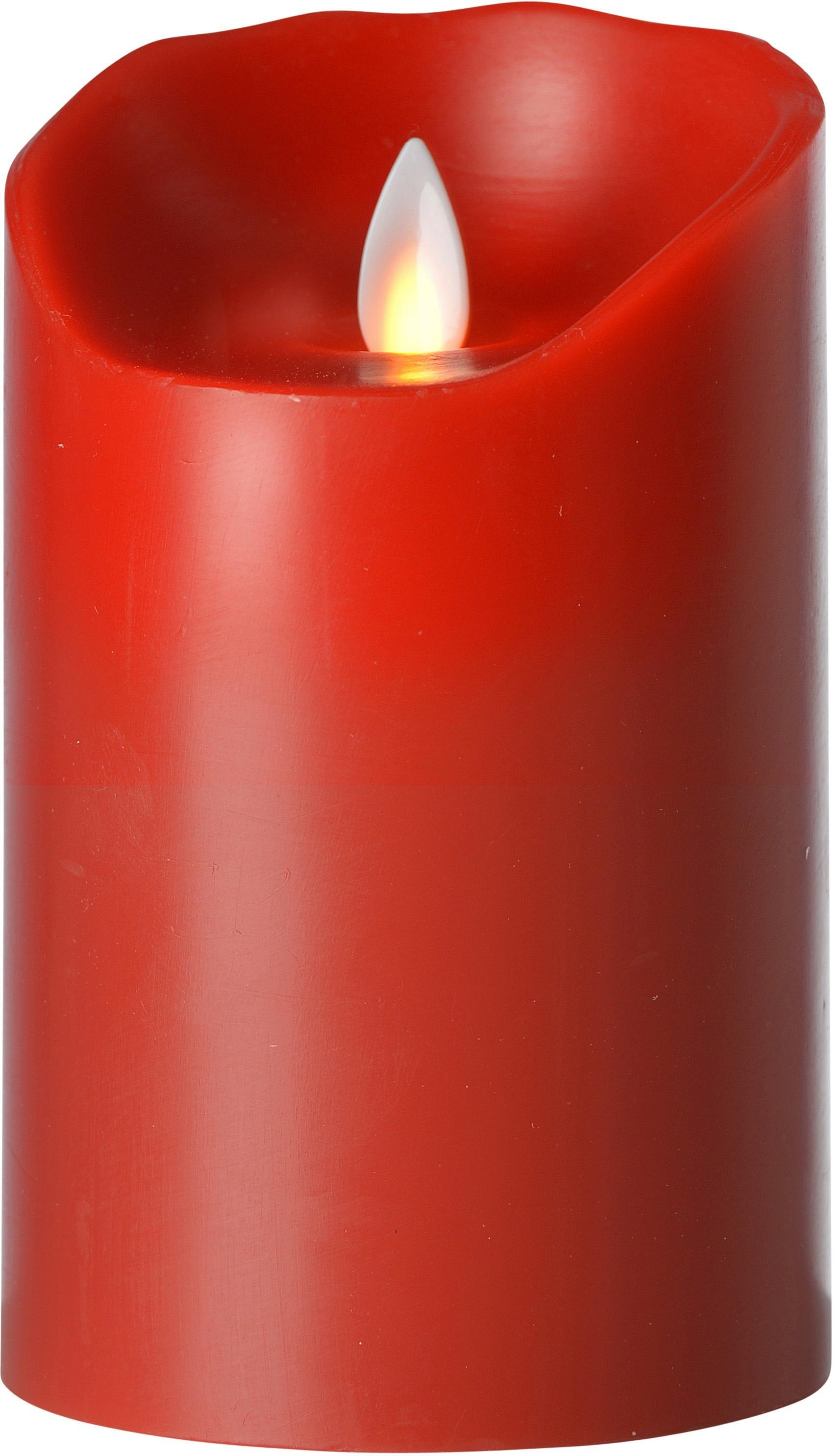 Set aus 10 wei/ß 12,5 und 15cm hohen Kerzen Goobay 3er Set LED Echtwachs-Kerzen
